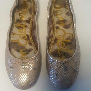 Sam Edelman Leather Felica Ballet Flats bow/charm